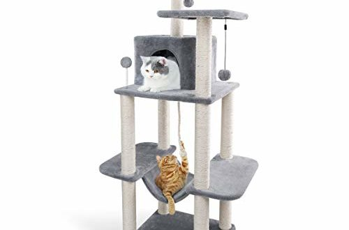 41zTFBuV+PL 500x330 - Eono by Amazon - Katzenbaum mit Sisal Katzenkratzbaum Katzenturm mit Hängematte Höhle Kratzbäume Kletterbaum Katzenmöbel Katzenspielzeug