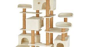 41J 2bPWQL 310x165 - TecTake 800551 XXL Katzen Kratzbaum | Stämme komplett mit Kokosseil umwickelt | 214cm hoch - Diverse Farben (Beige | Nr. 402805)