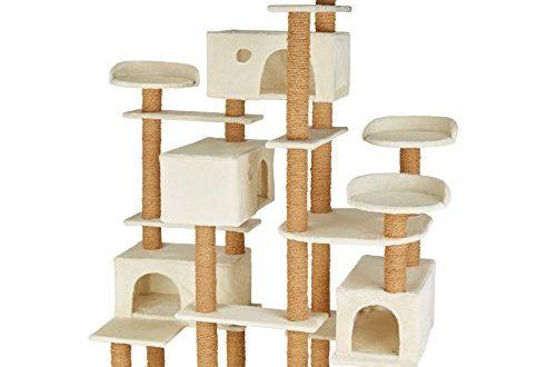 41J 2bPWQL 500x330 - TecTake 800551 XXL Katzen Kratzbaum | Stämme komplett mit Kokosseil umwickelt | 214cm hoch - Diverse Farben (Beige | Nr. 402805)